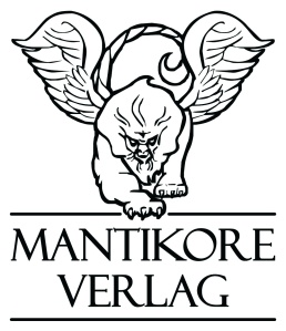 mantikore logo mit schriftzug sw