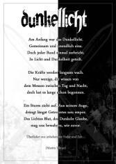 Gedicht Dunkellicht